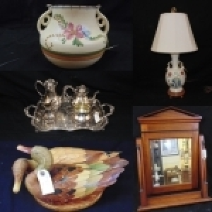 Antiques, Artwork, China, Crystal & More!
