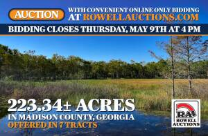 223± Acres Offered in Tracts • Madison County, GA