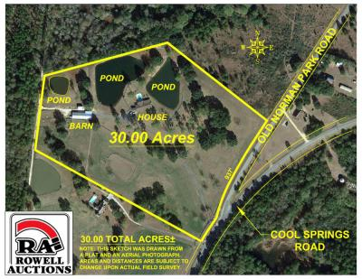 Home & Stables on 30± Acres, 1369 Cool Springs Road, Norman Park, GA