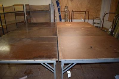 "(2) 12' x 66"" Tables"