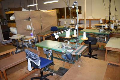 Rimoldi Sewing Machine With 2 Tables & Chair
