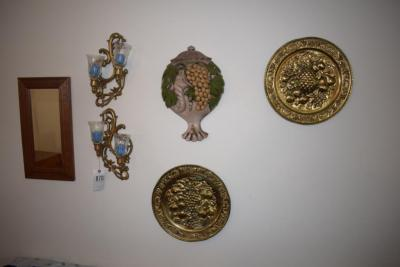 Wall Decorations - Mirror, Frame, Candles