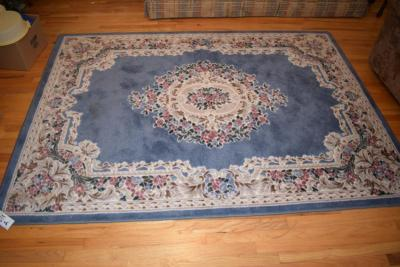 "(2) Floral Area Rugs 93"" x 66"""