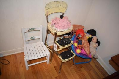 Kids Seats and Toys, Dinosaur Costume, Dolls, Balls
