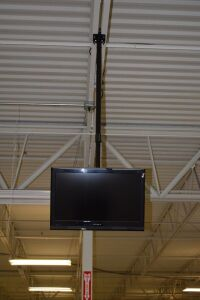 TV with Ceiling Mount