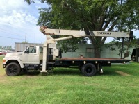 1997 FORD F800 WITH NATIONAL CRANE (MODEL: 500C, SERIAL: 28257), DIESEL ENGINE, 302,585 MILES, VIN: 1FDPF80C8VVA43934 - 2