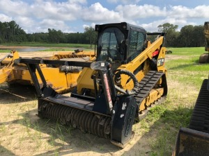 CAT 299D2 EXP skid steer with forestry mulcher, 960 Hours,Serial; DX203903