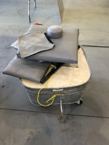 Tub of Concrete with Tarp