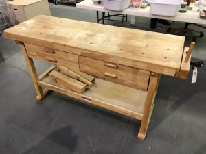 Work Table with Four Drawers 52x34x20in