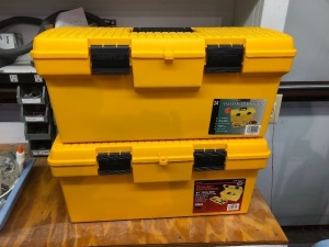"(2) 24"" Tool Box With Framing Tools, Painting & Wall Paper Tools"