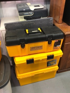 (3) Tool Boxes with Wood Working Tools, Heat Guns