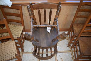 (2) Wooden Chairs- One Needs Repair