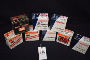 (9) Boxes of 12 Gauge 8.5 Shot Reloaded Shells (1) Box of 15