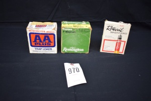 (3) Boxes of 12,16 Gauge MIXED Shot Reloaded Shells