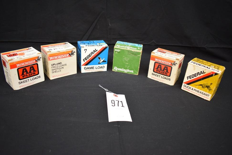 8) Boxes of 20 Gauge MIXED Shot Reloaded Shells