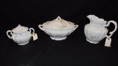 Johnson Brothers Porcelain Pitcher, Soup tureen and Sugar Bowl