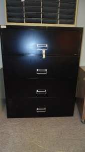 4 Drawer File Cabinet With Pullup Door And Slide Out Drawer  41In X 15In X 52In