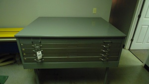 Metal Blueprint File Cabinet With 5 Drawers 54 In X 42 1/4 In X 44 1/2 In