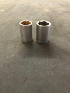 "CRAFTSMAN ½"" Drive 6 point 17 and 19mm Metric Socket - 44259 & 44237"