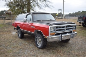1987 Dodge Ram Charger, VIN # 3B4GW12TXHM716436, 38,358 Miles, Runs & Drives