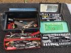 Toolbox With Tools And Sockets